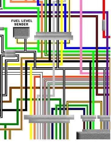 suzuki gs1000 colour motorcycle wiring loom diagrams