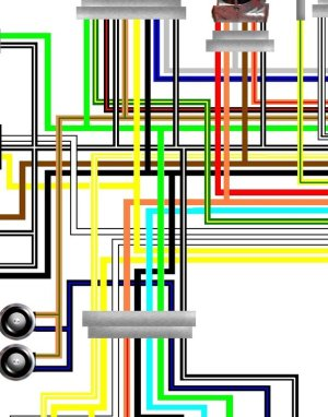 Suzuki GSF600 Bandit 199597 UK Spec Colour Wiring Loom Diagram