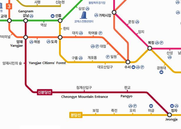 Jeongja Station Subway Map.Shinbundang Line Opens 신분당선 Kojects