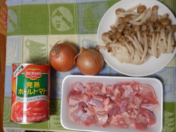 トマト缶,トマト鍋,鶏肉,