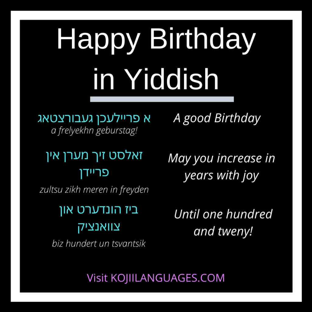 How To Wish Someone A Happy Birthday In Yiddish