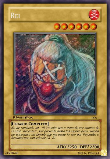rei - Cartas de Yu-Gi-Oh! para los usuarios... - Off Topic