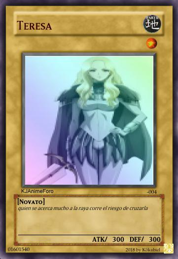 teresa - Cartas de Yu-Gi-Oh! para los usuarios... - Off Topic