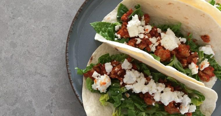 Knapperige taco's met feta