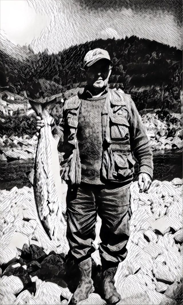 Luis Alonso con un salmón