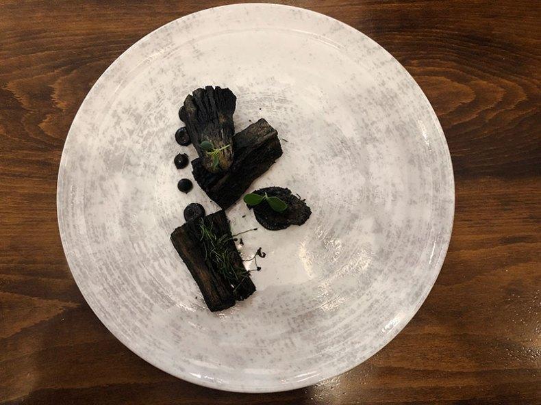 Carbón vegetal. Chef Koketo
