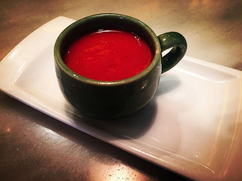 Sopa fría de sandía y melón