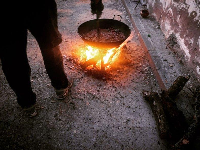 Fuego sobre el asfalto