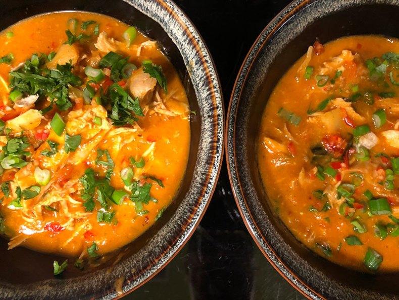 Curry rojo típico de la cocina tailandesa