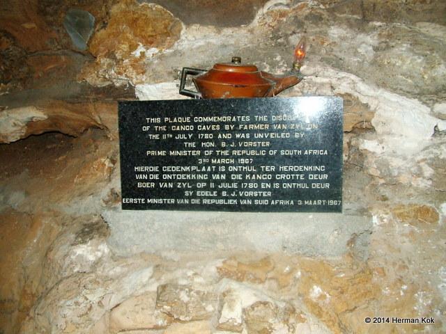 Cango Caves Plaque