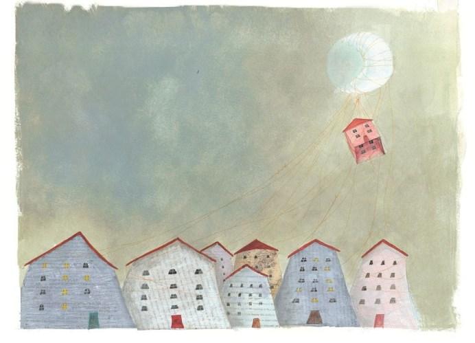 Έφη Λαδά: «Η πόλη κοιμάται»- από την εικονογράφηση του βιβλίου «Η ζωγραφιά που ταξιδεύει» της Ελένης Γκίκα, εκδ. Καλέντη, 2013. «Σπίτι για μένα είναι: Αγάπη, ασφάλεια, οικογένεια, θαλπωρή, καταφύγιο, συναισθήματα, αναμνήσεις, γέλια και κλάματα, μυρωδιές, γιορτές, φίλοι, παρέες. Το σπίτι κρατάει τα όνειρα και τις ελπίδες μας, τις εποχές μας και τις αλλαγές μας, το σπίτι είναι το ημερολόγιο της ζωής μας…»