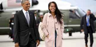 Malia and Barrack Obama