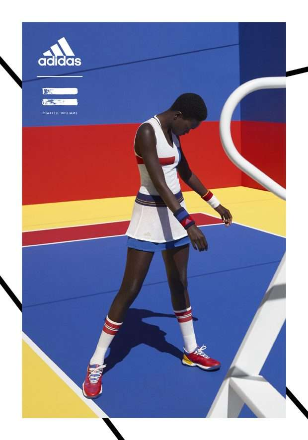 7b532bb764212 Adidas Originals teamed up with popular entertainer Pharrell Williams for a  Fall Winter 2017 tennis collection ...