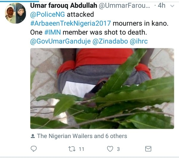 #ArbaeenTrek2017: Police Kills 200 Level Engineering Student And One Other In Kano 3