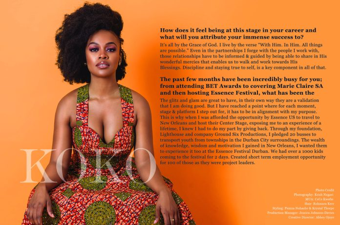 We Are The Groundbreakers! South African Actress Nomzamo Mbatha Talks Rihanna, Being UNHCR Ambassador And A Bright Future For Africans...As She Covers The KOKO Magazine 8