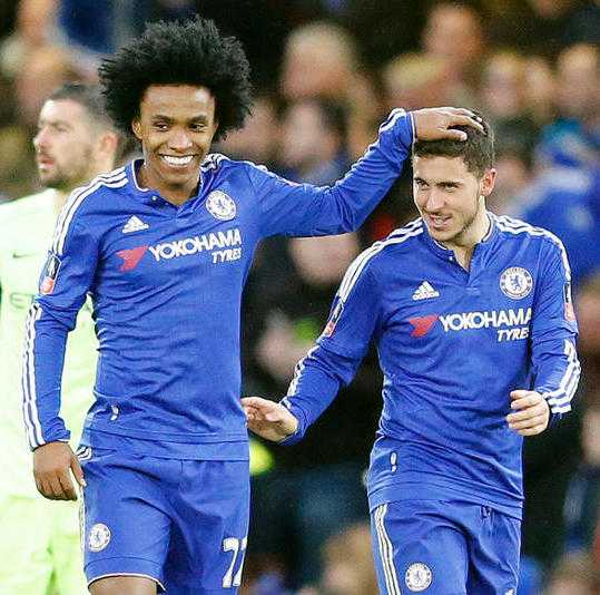 Chelsea Winger Willian Desperate To See His Teammate Eden Hazard Remain At Chelsea 1