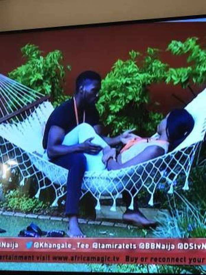 #BBNaija: Tobi And BamBam's Sudden Romance Is Giving Cee-C Sleepless Nights 1