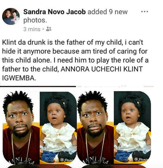 Infidelity: Klint Da Drunk Is The Father Of My 8-Month Old Baby - Lady Accuses Married Comedian 5