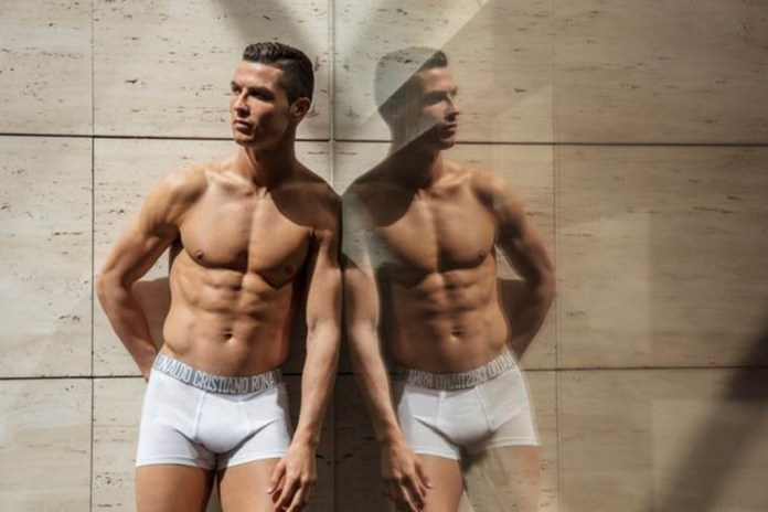 """""""Double Trouble""""- Cristiano Ronaldo Goes Shirtless To Launch New Collection 2"""