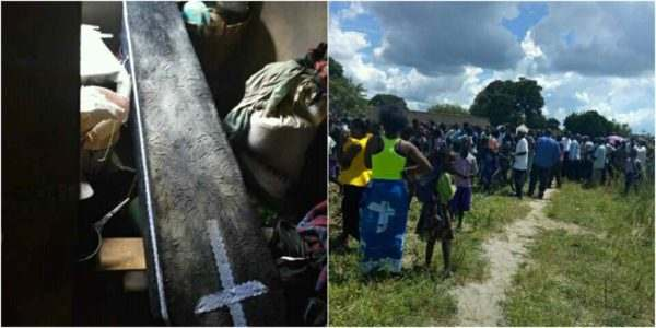 Mysterious Coffin Refuses To Enter The  Church For Burial In Zambia 1