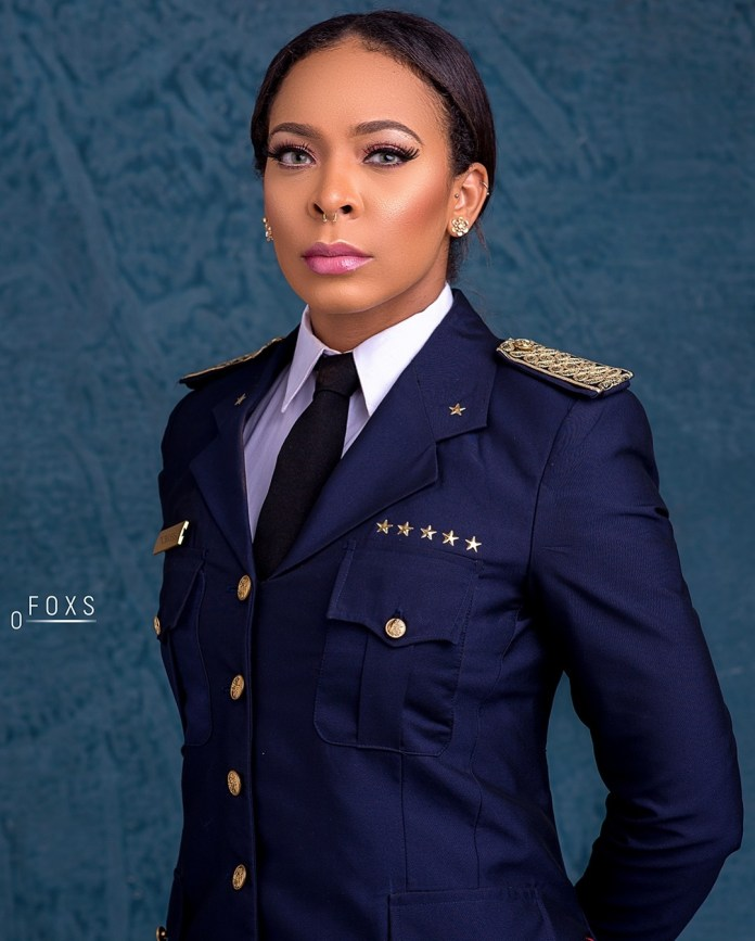 T-Boss Shows Her Love For Uniform In New Pilot Themed Photoshoot 4
