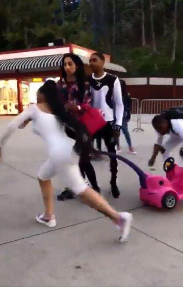 Video: WatchBlac ChynaGo Ballistic In A Fight At Children Amusement Park 4