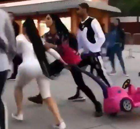 Video: WatchBlac ChynaGo Ballistic In A Fight At Children Amusement Park 1