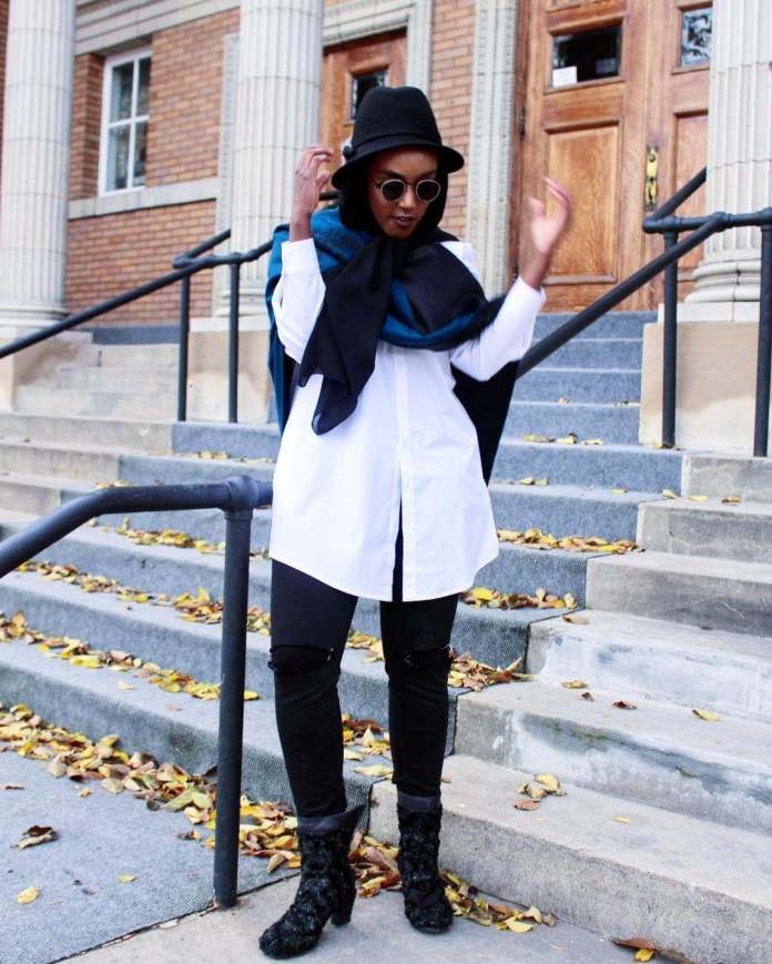 Muslimah Style: Eman Idil Bare Maintains A Clean And Fancy Hijab Style 6