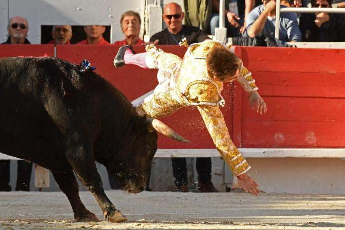 Shocking Moment Bullfighter Andy Younes Is Gorged By A Raging Bull 3