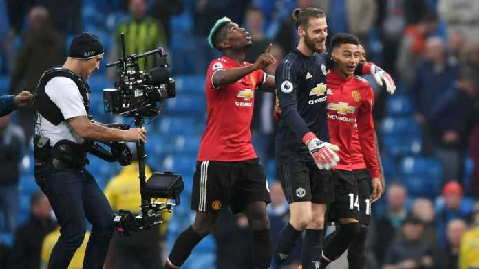 'You Are Number One!'....Paul Pogba Hails David De Gea As Manchester United Crash Manchester City Title Party 3