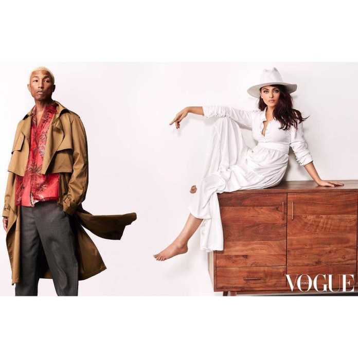 Pharrel Williams And Aishwarya Rai Bachchan Style For The Cameras On The Cover Of Vogue India 4