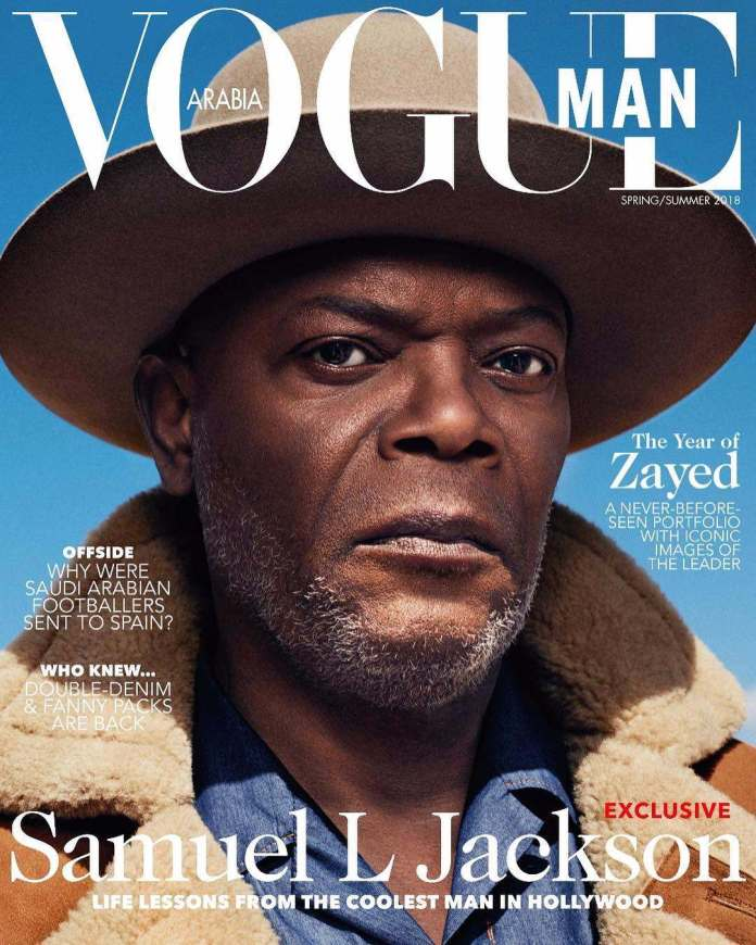 Samuel L Jackson Looks Fierce On The Cover Of Vogue Magazine's New Issue 1