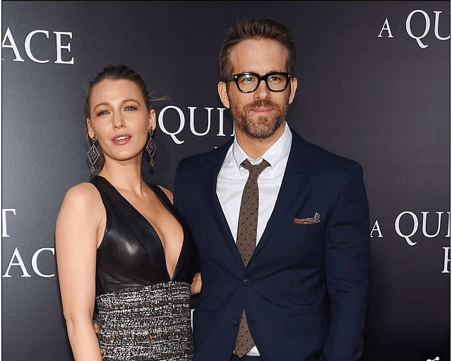 Style Stalking: Blak Lively Dazzles In Plunging Outfit For Movie Premiere With Husband Ryan Reynolds 1
