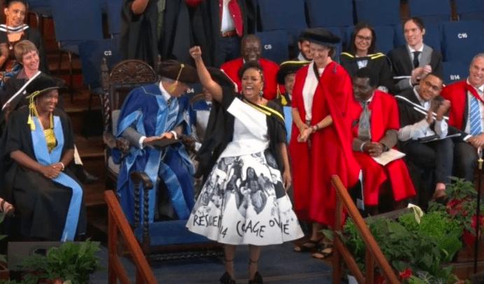 Koko's 2017 Woman Of The Year Nomzamo Mbatha's Graduation Dress Is Everything! 1