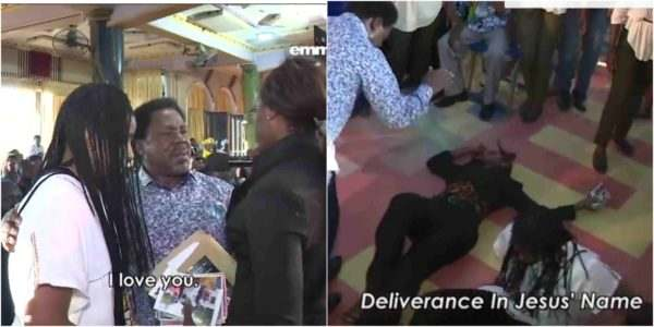 T.B Joshua Delivers Two Lesbians In His Church (video) 1