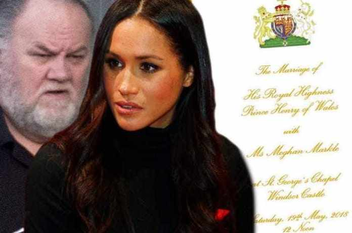 Royal Wedding:  See The Huge Error Already Made, Few Hours To The Nuptials 1