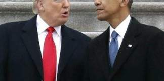 Donald Trump and Barrack Obama