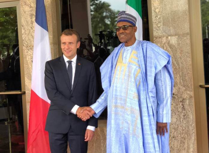 Buhari Receives France President, Macron In Aso Rock - See Photos 2