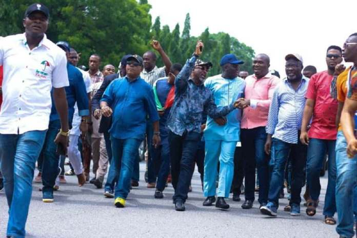 "Senate Promises Neutral Polls In Ekiti After Protest On ""Fayose's Attack"" 4"