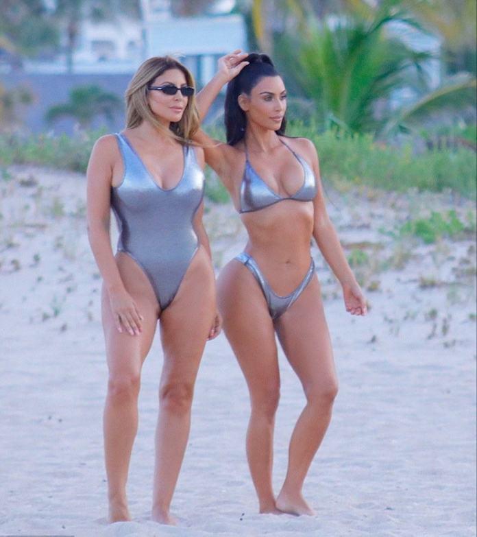 Kim Kardashian Smoulders In Sexy Silver Bikini In New Photos On Miami Beach 5