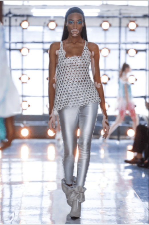 MFW: Winnie Harlow Spotted On The Byblos Spring 2019 Runway 1