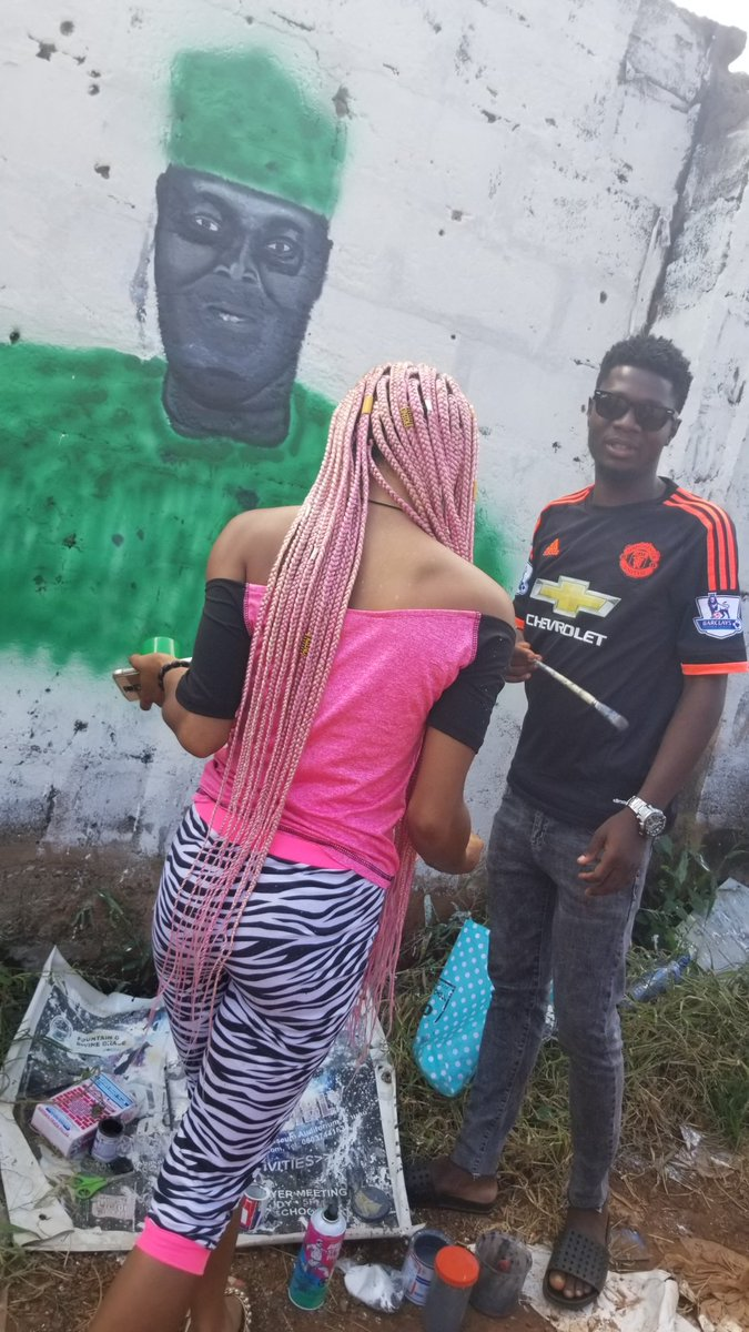 Beautiful Lady Draws Atiku 2019...See Atiku's Reaction 1