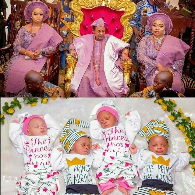 Alaafin Of Oyo Just Welcomes Third Set Of Twins This Year With Queen Anu 2