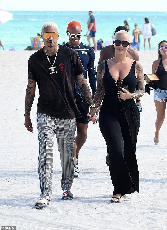 PDA: Amber Rose Steps Out With Her New Boo Alexander Edwards 2