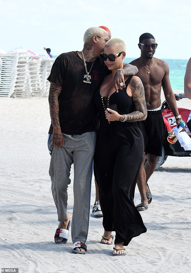 PDA: Amber Rose Steps Out With Her New Boo Alexander Edwards 4