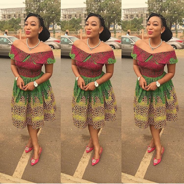 Ankara Style: Slay Your Week With Beautiful Short Gown Designs 5