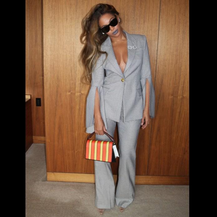 Style Stalking: Beyonce Flaunts Her Glowy Skin In Vintage Suit 1