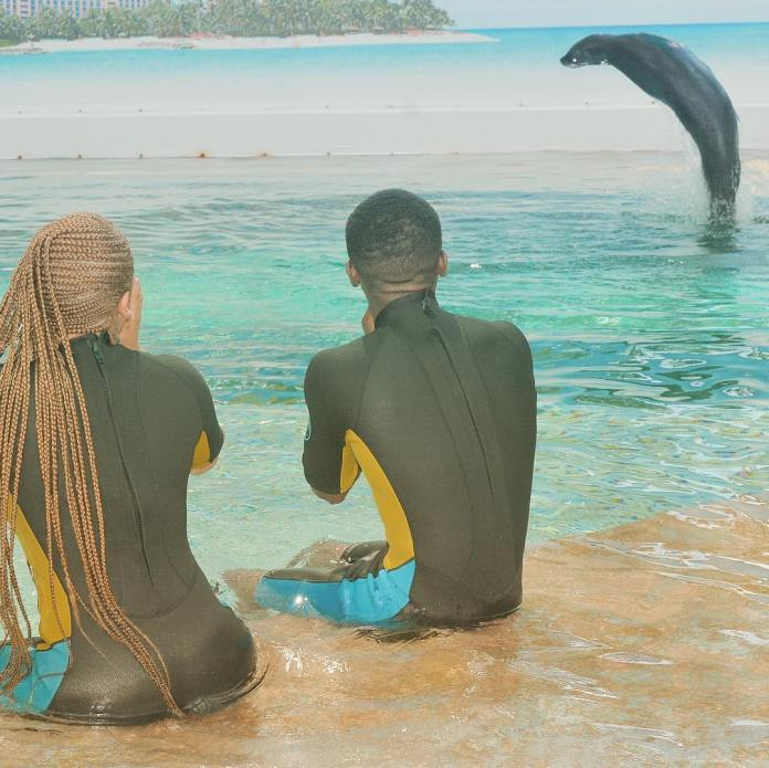 Adorable Photos Of Keyshia Cole And Her Lover Niko Khale In Bahamas 2