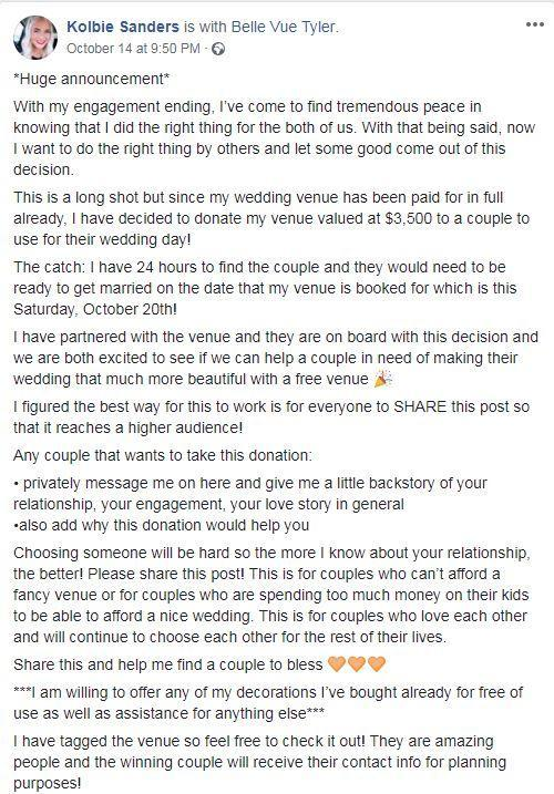 Bride Called Off Her Wedding - Then Gave It Away To A Couple She Had Never Met 3