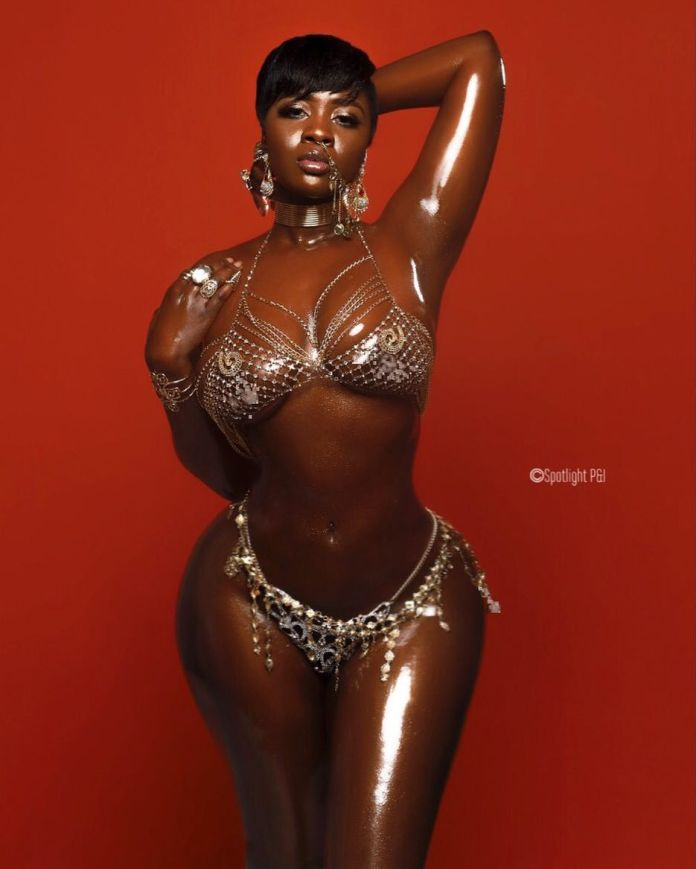 Princess Shyngle Flaunts Her Hot Body In Jewelry Decorated Bikini 1